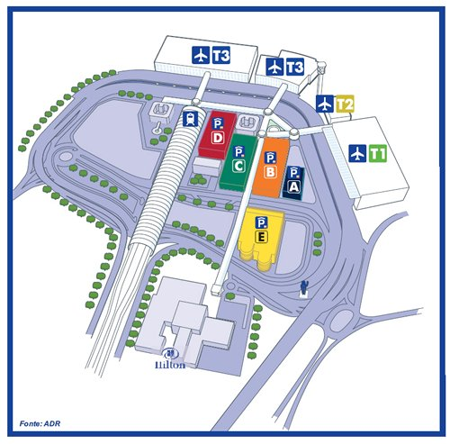Hilton Rome Airport is very close to terminals