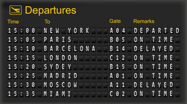 Rome airport timetables