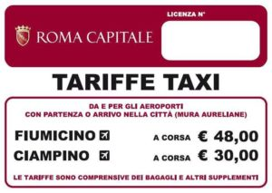 rome taxi fixed price