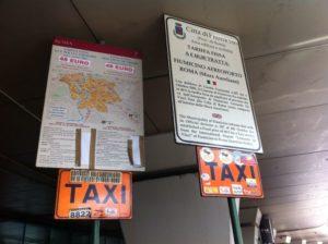 Fiumicino airport taxi fares