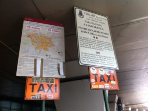Fiumicino airport: 2 taxi fares